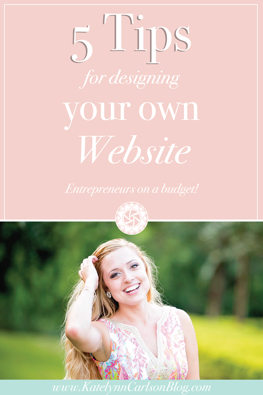 5 Tips for Designing Your Own Website